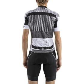 Craft Route Fietsshirt korte mouwen Heren wit/zwart